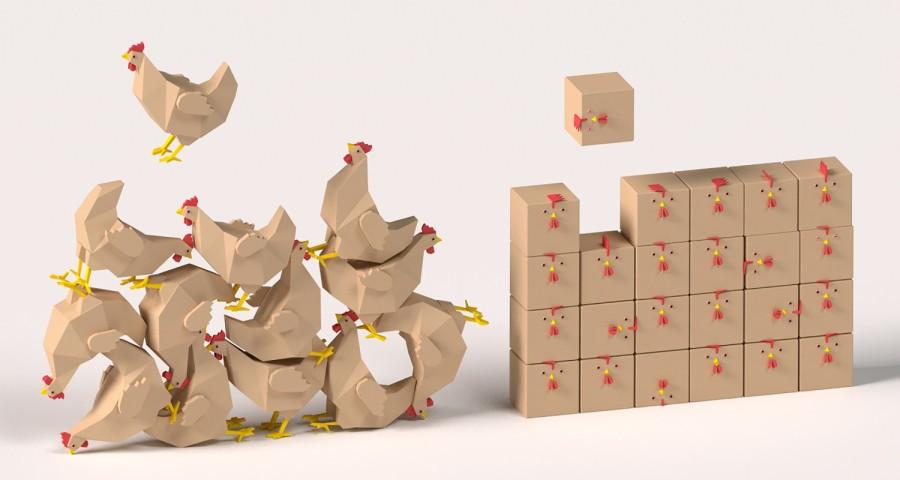 chicken cube